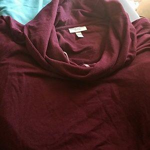 Purple tunic maternity top